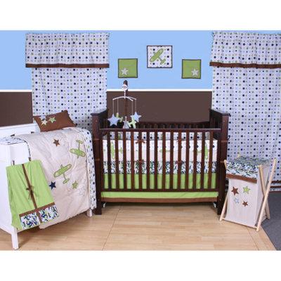 Bacati Camo Air 10-Piece Nursery-in-a-Bag Crib Bedding Set