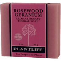 Plantlife Natural Body Care - Aromatherapy Herbal Soap Rosewood Geranium - 4 oz.