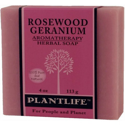 Plantlife Natural Body Care - Aromatherapy Herbal Soap Rosewood Geranium - 4 oz.