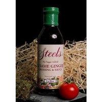Steel's Gourmet Agave Sesame Ginger Salad Dressing and Marinade -- 13.5 fl oz