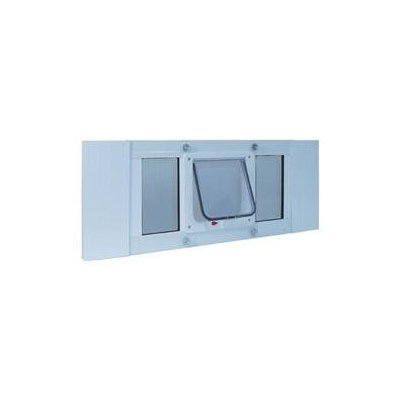 Ideal Pet Products Small White Aluminum Window Pet Door 27SWDCF