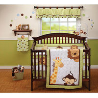 Little Bedding by NoJo Jungle Pals 3pc Crib Bedding Set - Value Bundle