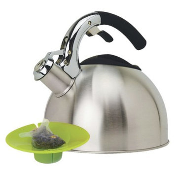 Primula Whistling Kettle with Tea Bag Buddy - Stainless Steel