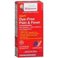 Walgreens Infant Pain/Fever Reducer, Dye Free, Grape, 2 fl oz