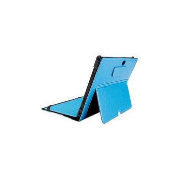 Cyber Acoustics Maroo - Flip cover for tablet - leather - azure blue - for Microsoft Surface RT