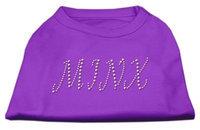 Mirage Pet Products 5248 XSPR Minx Rhinestone Shirts Purple XS 8