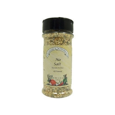 Lizzie's Kitchen No Salt Seasoning, 4.1-Ounce Plastic Jars (Pack of 4)