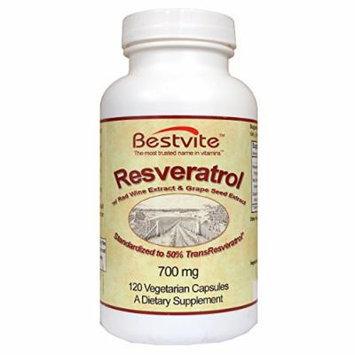 Resveratrol 700mg (120 Vegetarian Capsules)
