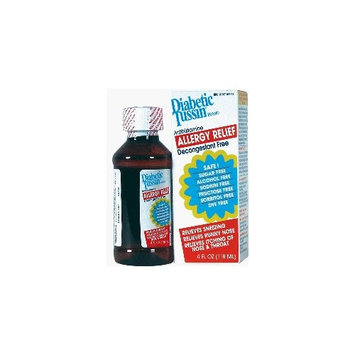 Diabetic Tussin Expectorant for Allergy Relief - 4 Oz