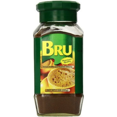Brooke Bond Bru Instant Coffee and Roasted Chicory, 7 Ounce