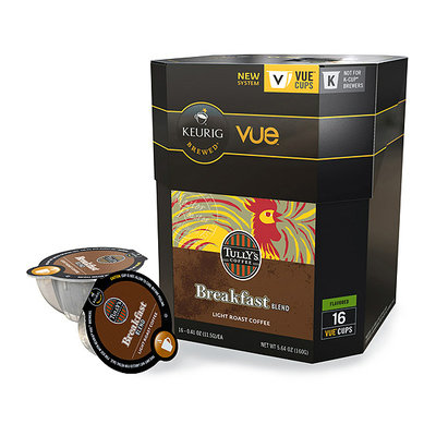 Keurig Vue Pack Tully's Coffee Breakfast Blend Coffee
