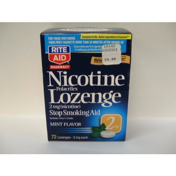 Rite Aid Stop Smoking Aid, Nicotine Lozenges, 2 mg, Mint Flavor