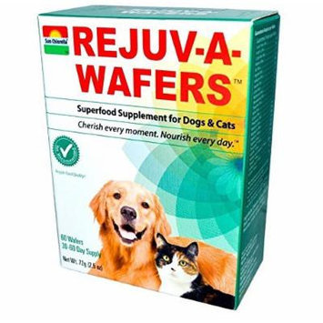 SUN CHLORELLA REJUV-A-WAFERS,DOGS&CATS, 60 CT