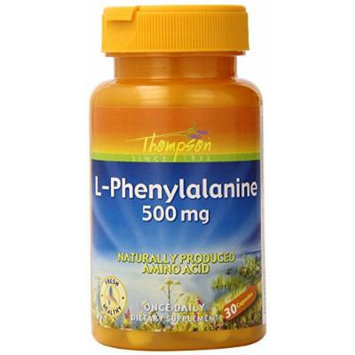 Thompson L-Phenylalanine Capsules, 500 Mg, 30 Count (Pack of 2)