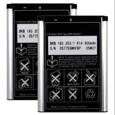 Battery for Sony Ericsson BST-37 (2-Pack) Replacement Battery