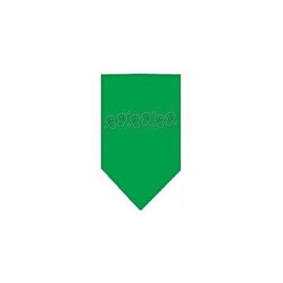 Ahi Beach Sandals Rhinestone Bandana Emerald Green Large