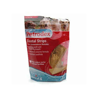 Sentry HC Petrodex Dental Strips for Large Dogs