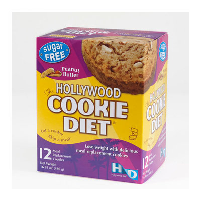 The Hollywood Cookie Diet Peanut Butter Meal Replacement Cookies