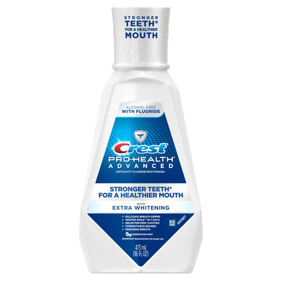 Crest Pro-health Advanced With Extra Whitening Alcohol Free Mouthwash