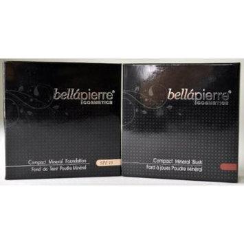 Bella Pierre Mix & Match: Choose Pressed Foundation + Pressed Blush - Free Gift LED Key Chain