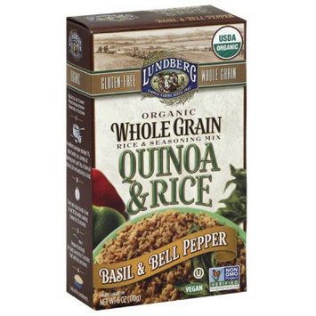Lundberg Quinoa & Rice Basil & Bell Pepper Organic Whole Grain Rice & Seasoning Mix, 6 oz, (Pack of 6)