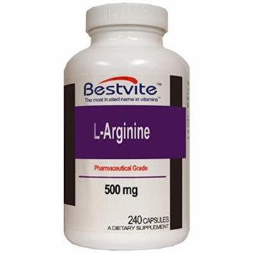 L-Arginine 500mg (240 Capsules)