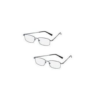 2 Pairs Magnivision Titanium R Reading Glasses 2.50