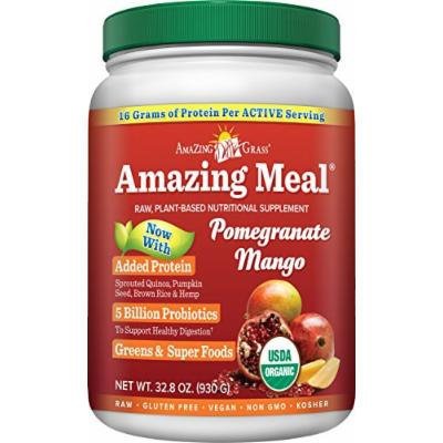 Amazing Grass Amazing Meal Pomegranate Mango, 30 servings, 32.5 Ounce (Packaging May Vary)