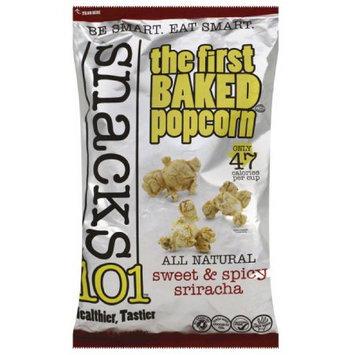 Snack 101 Snacks101 Sweet & Spicy Sriracha Baked Popcorn, 4.5 oz, (Pack of 12)