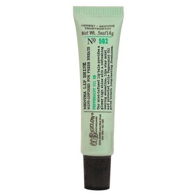 C.O. Bigelow Bath & Body Works Original No. 502 Mentha Lip Shine Shade Clear Peppermint Oil 2% Sealed