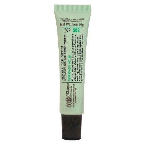 C.O. Bigelow Bath & Body Works Original No. 502 Mentha Lip Shine Shade Clear Peppermint Oil 2% Sealed