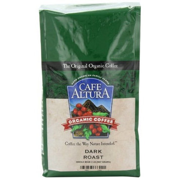 Cafe Altura Organic Coffee, Dark Roast, Whole Bean, 32-Ounce Bag