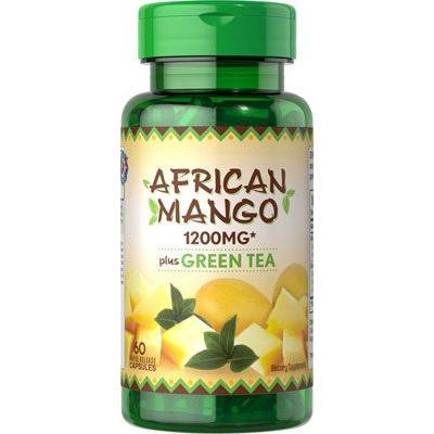 Puritan's Pride African Mango Extract Plus Green Tea 300 mg/200 mg/60 Capsules