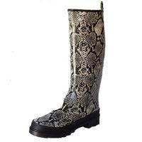 Penny Loves Kenny Tornado Women's Waterproof Faux Snakeskin Rain/Snow Boots