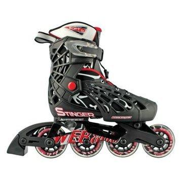 Roller Derby Boy's  Adjustable Inline - Black/ Red/ White (Small)