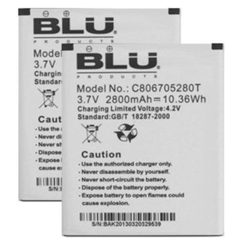 Battery for BLU C806705280T (2-Pack) Replacement Battery