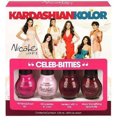 OPI Nicole Kardashian Kolor Nail Lacquer, Celeb-Bitties, 0.5 Fluid Ounce (1/8 Fluid Ounce each)