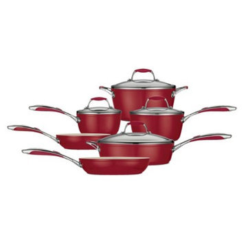 Tramontina Ceramica 10 Piece Cookware Set - Red