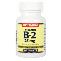 Optimum Vitamin B-2 Tablets, 25 Mg, 100 Count (Pack of 2)