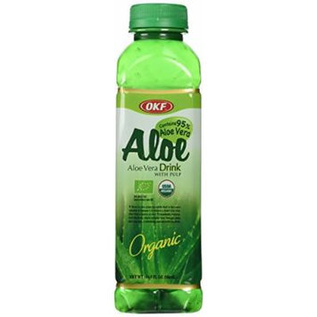 Trader Joe's Aloe Vera Drink with Pulp, 4 bottles, each 16.9 oz bottles, Organic