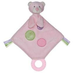 Aurora Baby Bear Teether Toy, Pink
