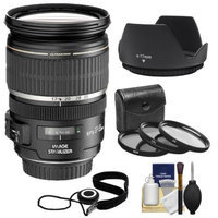 Canon EF-S 17-55mm f/2.8 IS USM Zoom Lens with 3 UV/CPL/ND8 Filters + Hood + Kit for EOS 70D, Rebel T3, T3i, T4i, T5, T5i, SL1 DSLR Cameras
