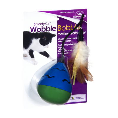 Smarty Kat Wobble Bobble Rocking Feather Cat Toy