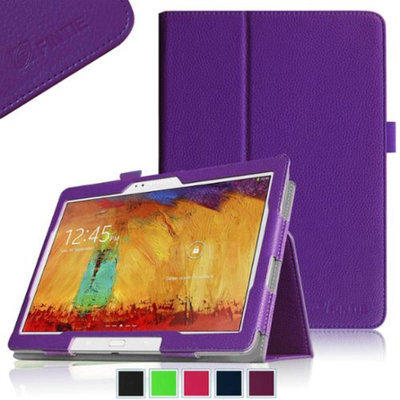 Fintie Samsung Galaxy Note 10.1 2014 Edition Folio Case - Slim Fit Book Style Leather Stand Cover, Violet