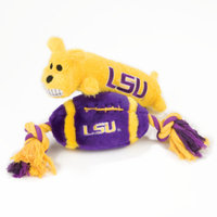 Pet Life Pets First Louisiana State University Tigers Squeaker Dog Toy