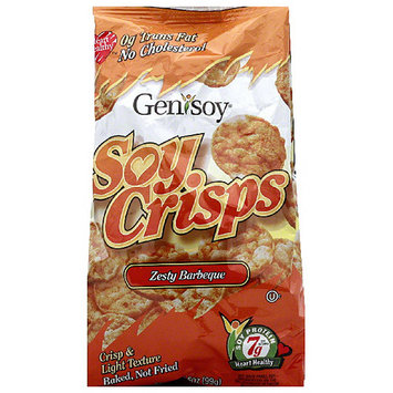 Genisoy Zesty Barbeque Soy Crisps, 3.85 oz, (Pack of 12)