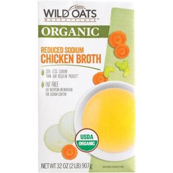 Wild Oats Marketplace Organic Reduced Sodium Chicken Broth, 32 oz