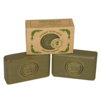 Ancient Olive Natural Olive Oil & Laurel Oil Molded Bar Soap, Value Pack Orange Flower