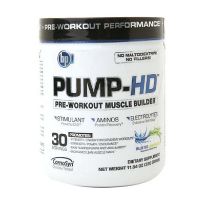 BPI PUMP-HD Pre-Workout Muscle Builder Blue Ice Lemonade