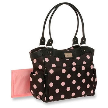 Carter's Allover Dot Diaper Tote - Grey/Pink - 1 ct.